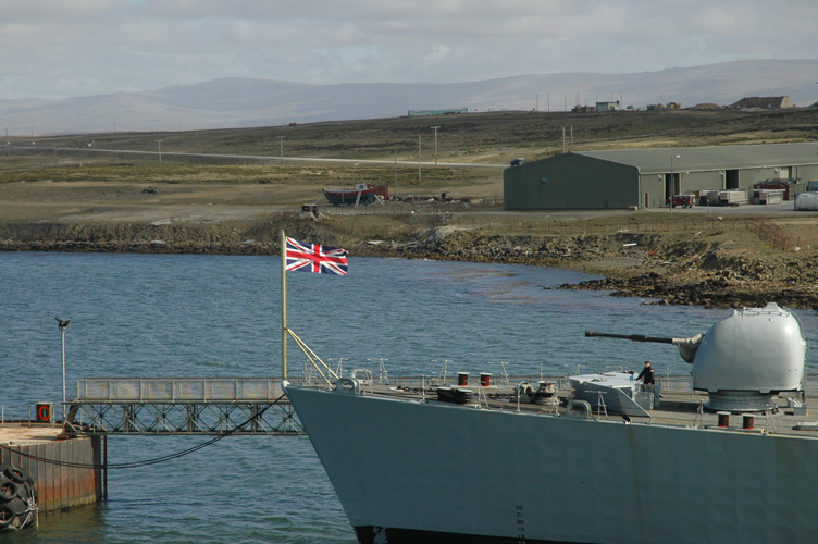 Flag on the prow of a destroyer