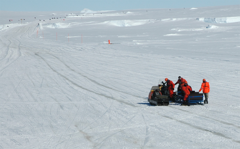 Ferrying driver on the Happy Sledge
