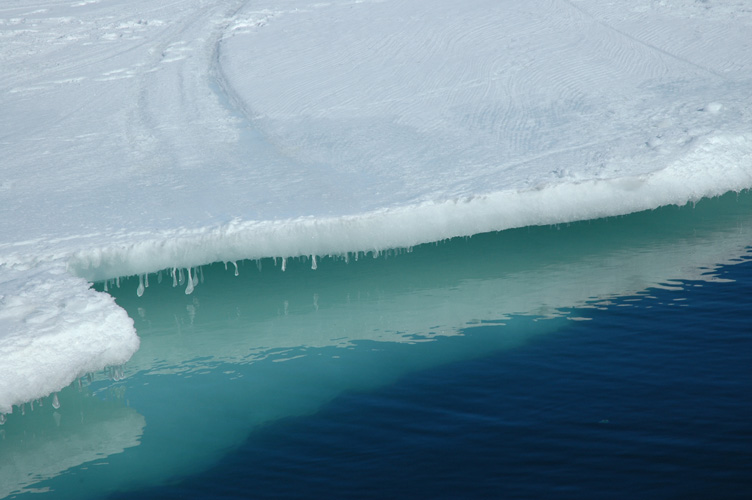 The edge of the sea ice (from the ship)