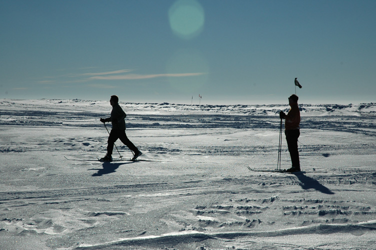 Halley VI architects out on skis