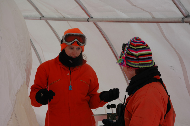 Kirsty and Frances discuss the sonde