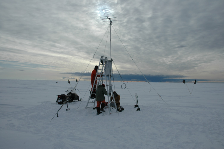 Pointing the transmitter at the base
