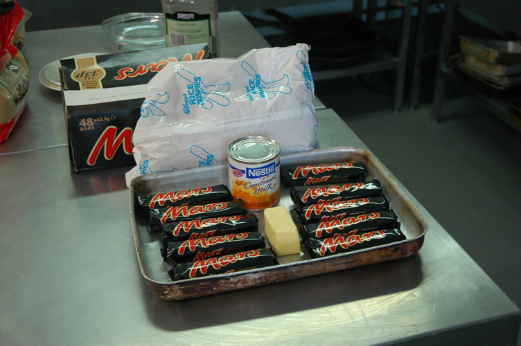 Mars bar crispie calories