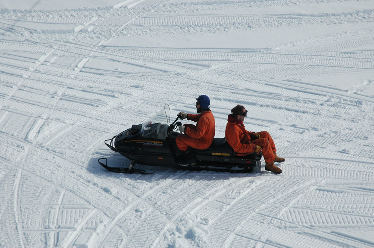 Jules and Chris on a Skidoo