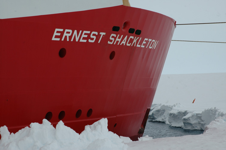 The prow of the Shackleton
