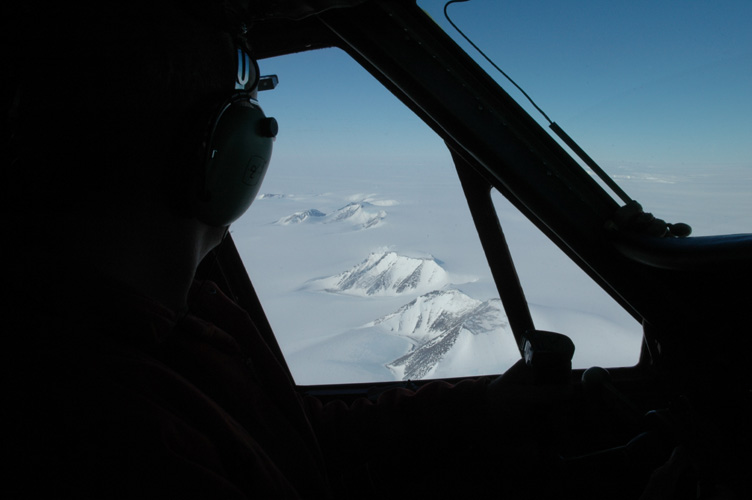The Shackleton Range from the cockpit