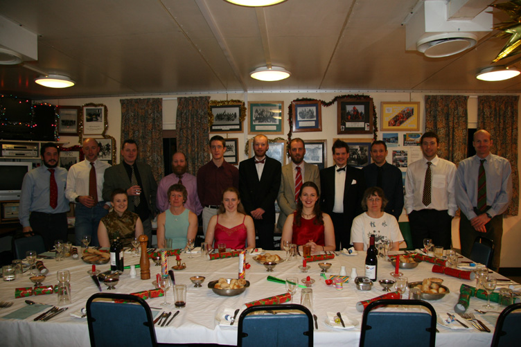 Halley winterers 2006 before midwinter feast