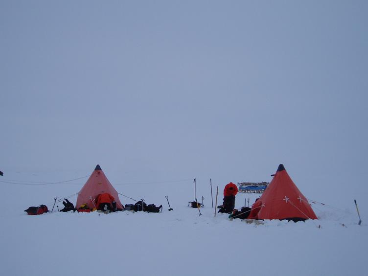 Pyramid tents in poor contrast