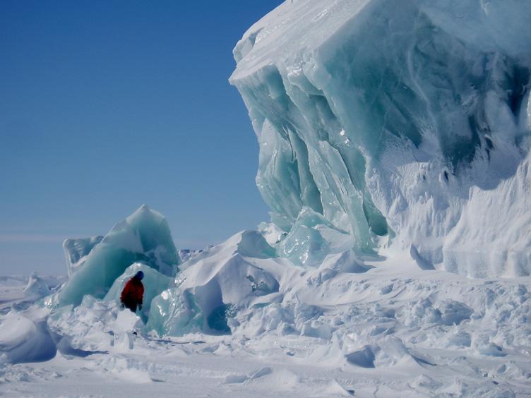 Simon amongst the ice