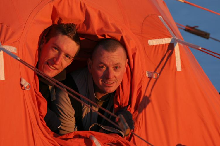 Me and Mark in our pyramid tent
