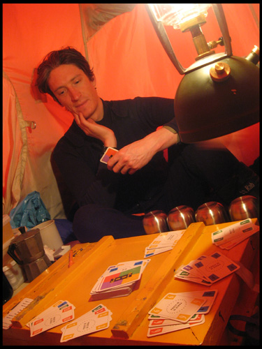 Playing cards in the evening (Dave)