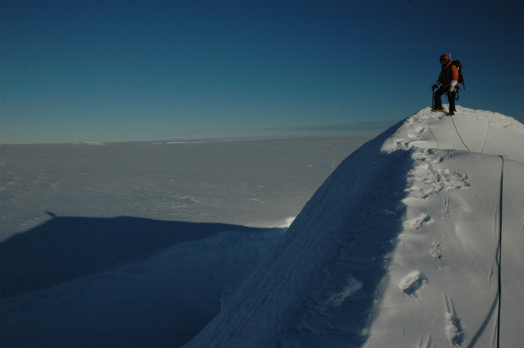 On top of ice ridge