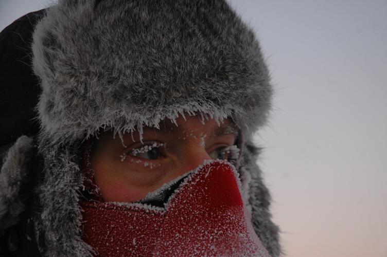I get a frosty face