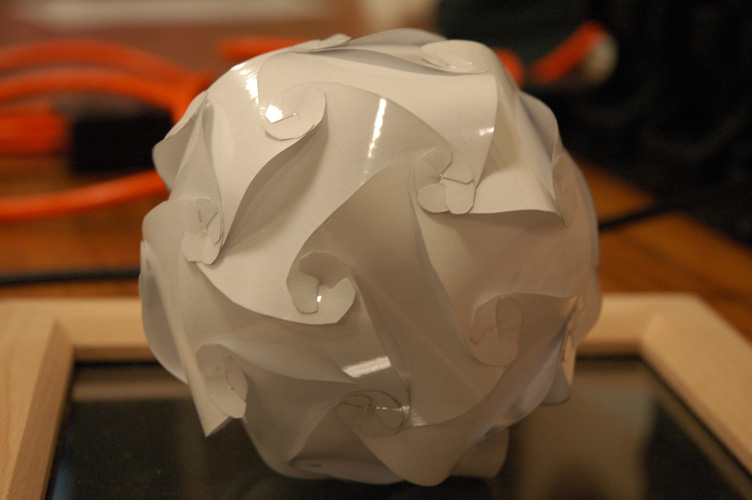 A paper lamp