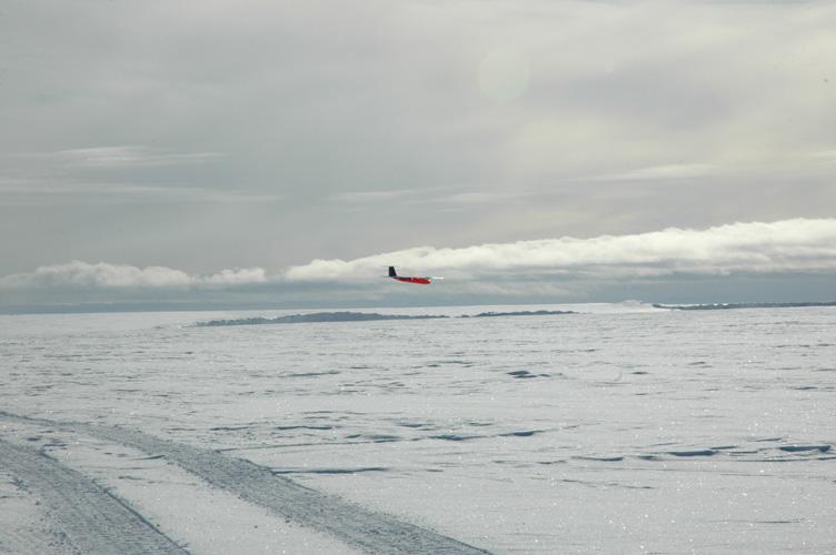 UAV landing on the shelf ice