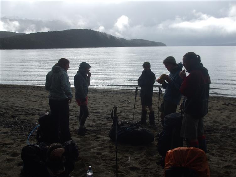 Cookies on the shore of Lake Te Anua